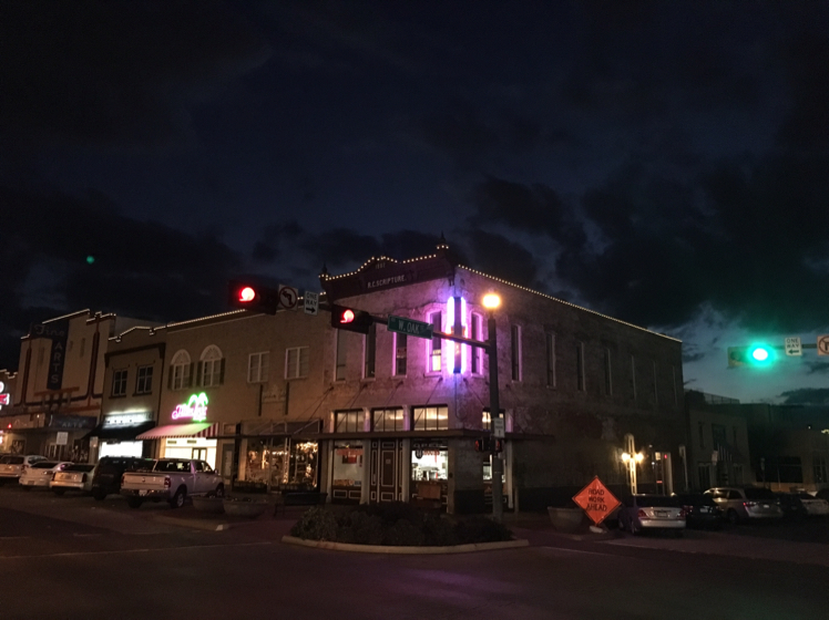 Lights In Downtown Denton